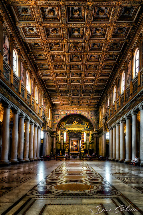 &quot;The nave of the Basilica of Santa Maria Maggiore - Rome&quot;...<br />