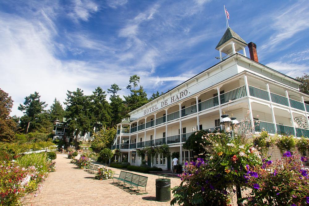 North America, United States, Washington, San Juan Islands, historic Hotel de Haro at Rosario marina