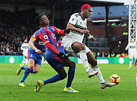 Football - 2018 / 2019 Premier League - Crystal Palace vs. Fulham<br /> <br /> Ryan Babel of Fulham and Aaron Wan - Bissaka of Palace, at Selhurst Park.<br /> <br /> COLORSPORT/ANDREW COWIE
