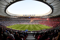 MADRID, SPAIN - SATURDAY, JUNE 1, 2019: A general view during the UEFA Champions League Final match between Tottenham Hotspur FC and Liverpool FC at the Estadio Metropolitano. (Pic by Handout/UEFA)