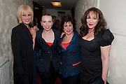 JOANNA LUMLEY; JUDITH OWEN;  RUBY WAX; FRANCES BARBER, Press night for Ruby Wax- Losing it. Duchess theatre. London. 1 September 2011. <br /> <br />  , -DO NOT ARCHIVE-&copy; Copyright Photograph by Dafydd Jones. 248 Clapham Rd. London SW9 0PZ. Tel 0207 820 0771. www.dafjones.com.
