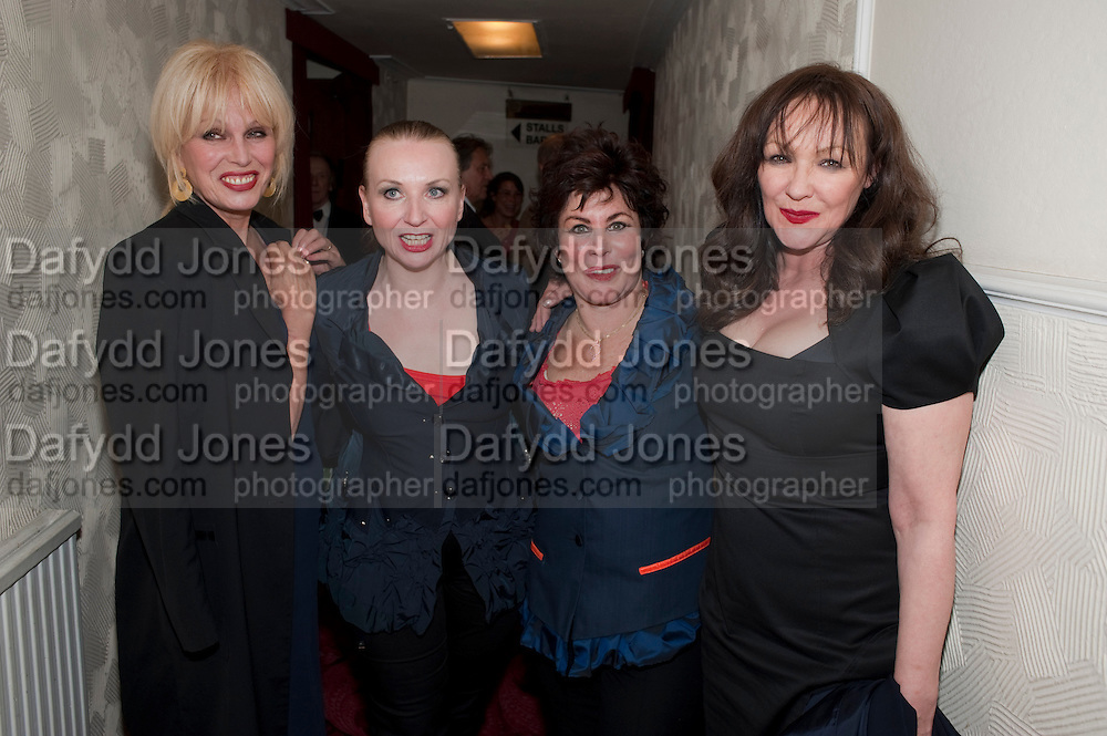 JOANNA LUMLEY; JUDITH OWEN;  RUBY WAX; FRANCES BARBER, Press night for Ruby Wax- Losing it. Duchess theatre. London. 1 September 2011. <br /> <br />  , -DO NOT ARCHIVE-© Copyright Photograph by Dafydd Jones. 248 Clapham Rd. London SW9 0PZ. Tel 0207 820 0771. www.dafjones.com.