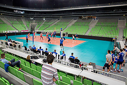 Arena during friendly volleyball match, closed for public, between Men National teams of Slovenia and Slovakia, on June 10, 2016 in Arena Stozice, Ljubljana, Slovenia. Photo by Vid Ponikvar / Sportida