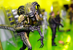 © under license to London News Pictures.  The London Toy Fair opened in Kensington Olympia today with the UK's largest single gathering of the worlds toy manufacturers showing their top merchandise for the year to come all under one roof. Toys for all ages and generations were in display with one company focussing their efforts on classic film and computer game fans with toys and models from classic films and games. On display amongst the  huge ranges of children's playthings were toys of the 2012 London Olympic Mascots Wenlock and Mandeville along side the new Team GB Mascot which will also be on sale during the London games..Photographer: Lee Durant.Date: 25/01/11