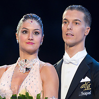 23 January 2010: Laure Colmard and Steeve Gaudet win the standard dancing competition during the Masters Bercy Latin and Ballroom (standard) Dancesport Championship 2010, at Palais Omnisports Paris Bercy, in Paris, France. .