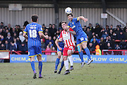 Jon Meades midfielder for AFC Wimbledon (12) in action during the Sky Bet League 2 match between AFC Wimbledon and Accrington Stanley at the Cherry Red Records Stadium, Kingston, England on 5 March 2016. Photo by Stuart Butcher.