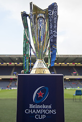 March 30, 2019 - Edinburgh, Scotland, United Kingdom - The Heineken Champions Cup trophy pictured during the Heineken Champions Cup Quarter Final match between Edinburgh Rugby and Munster Rugby at Murrayfield Stadium in Edinburgh, Scotland, United Kingdom on March 30, 2019  (Credit Image: © Andrew Surma/NurPhoto via ZUMA Press)