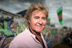 © Licensed to London News Pictures . 09/08/2015 . Siddington , UK . JOHN PARR back stage . The Rewind Festival of 1980s music , fashion and culture at Capesthorne Hall in Macclesfield . Photo credit: Joel Goodman/LNP