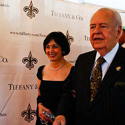 June 16, 2010; New Orleans, LA, USA; New Orleans Saints owner Tom Benson arrives with his wife Gayle at the Roosevelt Hotel where the New Orleans Saints received their Super Bowl rings for their victory of the Indianapolis Colts in Super Bowl XLIV.  Mandatory Credit: Derick E. Hingle