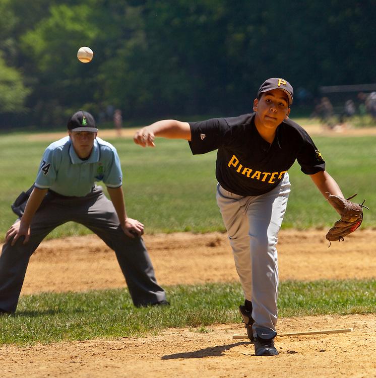Local baseball game in Prospect Park, Brooklyn. 2009.