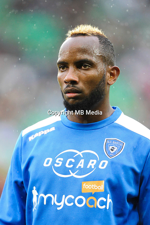 Lenny NANGIS of Bastia during the Ligue 1 match between AS Saint Etienne and Bastia at Stade Geoffroy-Guichard on September 18, 2016 in Saint-Etienne, France. (Photo by Jean Paul Thomas/Icon Sport)