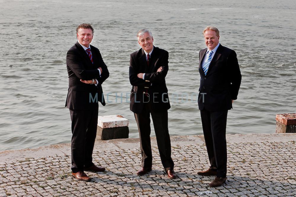 Jeroen Kortsmit, Pieter Bloemendaal en Gerd van der Lee van Royal Dirkzwager in Maassluis.