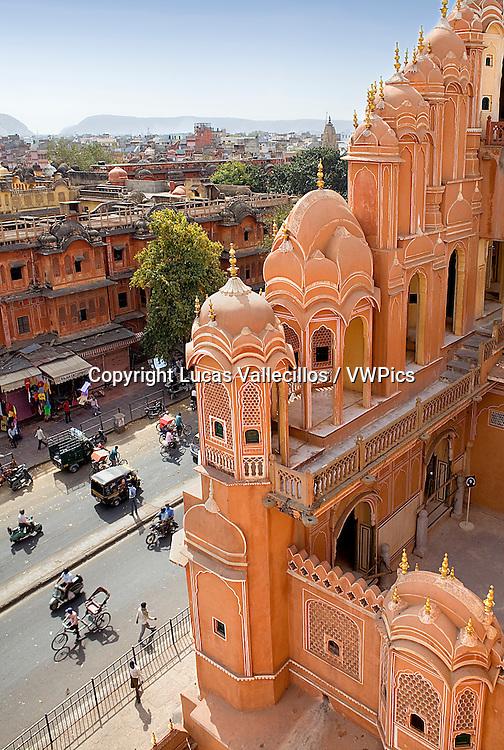Siredeori Bazaar, from Hawa Mahal (Palace of Winds). Jaipur. Rajasthan, India