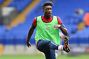 Bolton Wanderers Sammy Ameobi (22)  warms up before during the EFL Sky Bet League 1 match between Bolton Wanderers and Bradford City at the Macron Stadium, Bolton, England on 24 September 2016. Photo by Simon Brady.