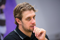 Anze Kopitar, NHL star and player of Los Angeles Kings during practice session and press conference before Kopitar's departure to USA, on August 28, 2014 in Ledna dvorana Bled, Slovenia. Photo by Matic Klansek Velej  / Sportida.com
