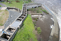 Fish ladder on the Connecticut River at Turner's Falls Dam, Turner's Falls, MA
