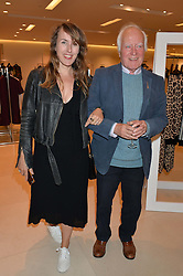 CYNNIE RYAN and DESMOND GUINNESS at the launch of the 'Jasmine for Jaeger' fashion collection by Jasmine Guinness for fashion label Jaeger held at Fenwick's, Bond Street, London on 9th September 2015.