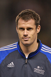 Manchester, England - Tuesday, March 13, 2007: Liverpool player Jamie Carragher before appearing for a Europe all-star XI against Manchester United during the UEFA Celebration Match at Old Trafford. (Pic by David Rawcliffe/Propaganda)