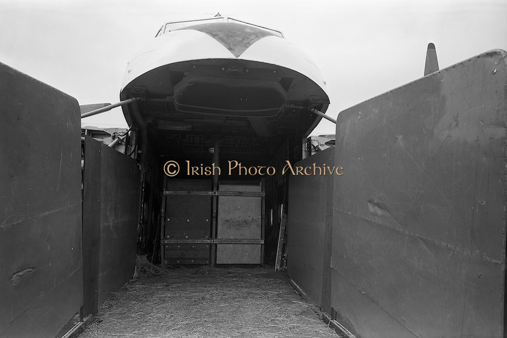11/06/1963<br /> 06/11/1963<br /> 11 June 1963<br /> B.K.S. Air Transport Ltd. aircraft  at Dublin Airport. Bristol Type 170 Freighter for Horse transport.
