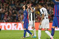 19.04.2017 - Barcellona  -  Quarti di finale  Champions League, Barcellona-Juventus , Nella foto:  Lionel Messi si dispera