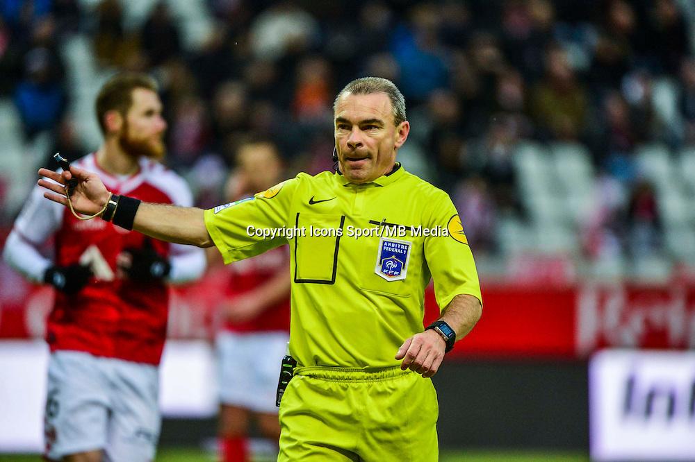 Lionel JAFFREDO - 25.01.2015 - Reims / Lens  - 22eme journee de Ligue1<br /> Photo : Dave Winter / Icon Sport *** Local Caption ***