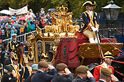 Prinsjesdag - Koninklijke familie in de Gouden Koets<br /> <br /> Budget Day - Royal family in the Golden Coach<br /> <br /> Op de foto / On the photo:  Koning Willem Alexander en Koningin Maxima in de Gouden Koets / King Willem Alexander and Queen Maximas in the Golden Coach Gouden Koets / Golden Coach