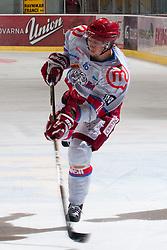 Miha Brus (HK Acroni Jesenice, #16) during ice-hockey match between HDD Tilia Olimpija and HK Acroni Jesenice in second game of Final at Slovenian National League, on April 3, 2011 at Hala Tivoli, Ljubljana, Slovenia. (Photo By Matic Klansek Velej / Sportida.com)