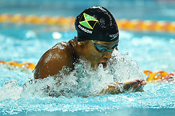 November 10, 2017 - Alia Atkinson of Jamaica competes during the women's 50m breaststroke final at the FINA Swimming World Cup Beijing in Beijing . Alia Atkinson claimed the title of the event in 29.57 seconds. (Credit Image: © Ju Huanzong/Xinhua via ZUMA Wire)