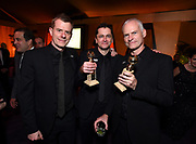 Graham Broadbent, from left, Peter Czernin, and Martin McDonagh attend FOX 2018 Golden Globes After Party at The Beverly Hilton on Sunday, January 7, 2018, in Beverly Hills, Calif. (Photo by Jordan Strauss/JanuaryImages/Invision/AP)
