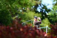 Mark James of England in action on day one of the SSE Enterprise Wales Senior Open golf at Celtic Manor Resort in Newport, South Wales , on Friday 29th May 2015<br /> pic by Andrew Orchard, Andrew Orchard sports photography.