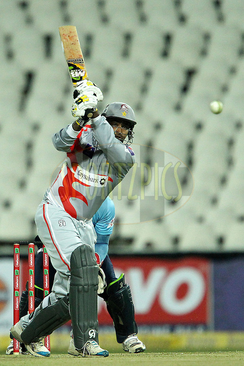Qaisar Abbas during 2nd Qualifying match of the Karbonn Smart CLT20 South Africa between Auckland Aces and Sialkot Stallions held at The Wanderers Stadium in Johannesburg, South Africa on the 9th October 2012..Photo by Ron Gaunt/SPORTZPICS/CLT20