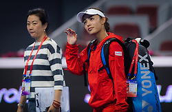 October 5, 2018 - Qiang Wang of China celebrates winning her quarter-final match at the 2018 China Open WTA Premier Mandatory tennis tournament (Credit Image: © AFP7 via ZUMA Wire)