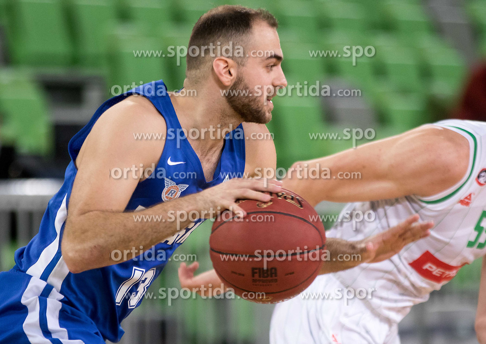 Mirza Sarajlija of KK Rogaska during 2nd leg basketball match between KK Petrol Olimpija and KK Rogaska in quarter final of  Pokal SPAR 2018/19, on January 14, 2019 in Arena Stozice, Ljubljana, Slovenia. Photo by Matic Ritonja / Sportida