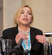 Conservative Party Conference, ICC, Birmingham, Great Britain <br /> Day 3<br /> 9th October 2012 <br /> <br /> Charlotte Church speaking at a Hacked Off campaign fringe meeting <br /> <br /> Photograph by Elliott Franks<br /> <br /> United Kingdom<br /> Tel 07802 537 220 <br /> elliott@elliottfranks.com<br /> <br /> ©2012 Elliott Franks<br /> Agency space rates apply