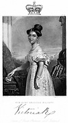 Victoria (1819-1901) Queen of Great Britain and Ireland from 1838. Victoria c1838. Engraving.