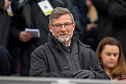 Craig Levein, manager of Heart of Midlothian watches from the stand before the 4th round of the William Hill Scottish Cup match between Heart of Midlothian and Livingston at Tynecastle Stadium, Edinburgh, Scotland on 20 January 2019.