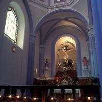 Interior de iglesia de Petare o Dulce Nombre de jesús, Petare, Estado Miranda, Venezuela