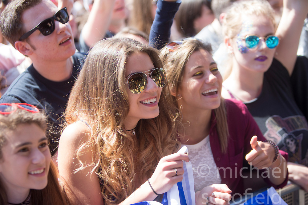 Crowd as Circa waves play the main stage. Saturday at TRNSMT music festival, Glasgow Green.
