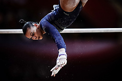 November 2, 2018 - Doha, Qatar - Rebecca Downie of  Great Britain   during  Uneven Bars for Women at the Aspire Dome in Doha, Qatar, Artistic FIG Gymnastics World Championships on 2 of November 2018. (Credit Image: © Ulrik Pedersen/NurPhoto via ZUMA Press)