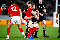 Scott Barrett of New Zealand (All Blacks) tackling Alun Wyn Jones (capt) of Wales during the Bronze Final match between New Zealand and Wales Mandatory by-line: Steve Haag Sports/JMPUK - 01/11/2019 - RUGBY - Tokyo Stadium - Tokyo, Japan - New Zealand v Wales - Bronze Final - Rugby World Cup Japan 2019