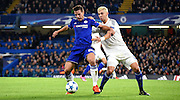 Cesar Azpilicueta and Aleksandar Dragovic battle it out during the Champions League group stage match between Chelsea and Dynamo Kiev at Stamford Bridge, London, England on 4 November 2015. Photo by Michael Hulf.