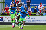 Forest Green Rovers Drissa Traoré(4) warming up during the EFL Sky Bet League 2 match between Forest Green Rovers and Exeter City at the New Lawn, Forest Green, United Kingdom on 9 September 2017. Photo by Shane Healey.