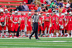NORMAL, IL - October 06: Ken Cloud during a college football game between the ISU (Illinois State University) Redbirds and the Western Illinois Leathernecks on October 06 2018 at Hancock Stadium in Normal, IL. (Photo by Alan Look)