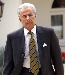 Lord Levy outside his house..Lord Levy has made headlines in the Sunday papers for only paying £5000.00 tax, The Chase House, Mill Hill, London, June 25, 2000. Photo by Andrew Parsons / i-images..
