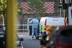 © Licensed to London News Pictures. 19/06/2017. London, UK. One man is dead and several inured after a van was driven in to people outside a Muslim welfare centre near to Finsbury Park mosque. Photo credit: Joel Goodman/LNP
