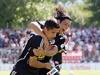 Luzerns Torschuetze Cristian Ianu und Nelson Ferreira jubeln nach dem Treffer zum 0:1 © Patrick Straub/EQ Images