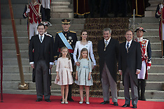 JUN 19 2014 The Coronation Of King Felipe VI and Queen Letizia of Spain