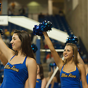 12/03/11 Newark DE: Delaware cheerleaders performing during a Colonial Athletic Association conference basketball game, Saturday, Dec. 03, 2011 at the Bob carpenter center in Newark Delaware...Sophomore Guard #10 Devon Saddler would finish the game with 30 total points, Delaware defeat Drexel 71-60.