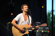 Charlie Mars plays at the Double Decker Arts Festival in Oxford, Miss. on Friday, April 27, 2012.
