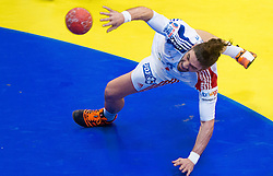Bertrand Gille of France during handball match between France and Iceland in  Main Round of 10th EHF European Handball Championship Serbia 2012, on January 25, 2012 in Spens Hall, Novi Sad, Serbia. (Photo By Vid Ponikvar / Sportida.com)